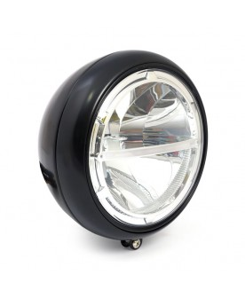 Phare noir LED 7""