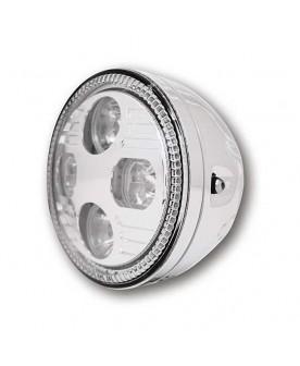 """Phare chrome 5""""3/4,LED"""