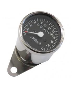 Compteur 60 mm chrome, kmh,...